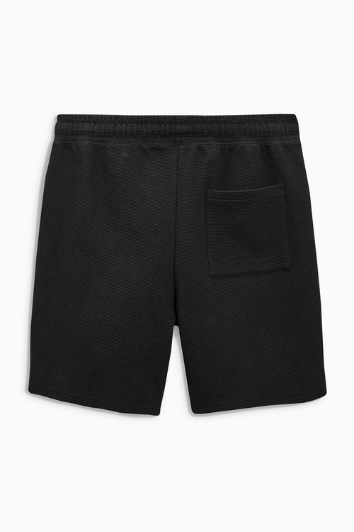 Next Black Textured Jersey Shorts