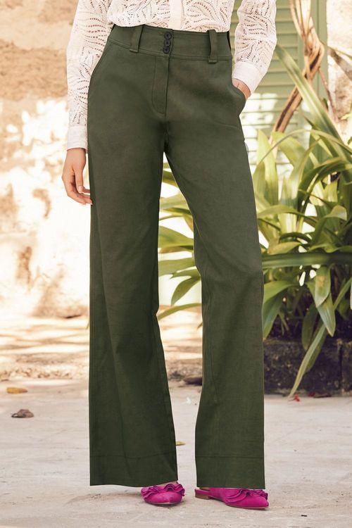Next Utility Pocket Wide Leg Trousers