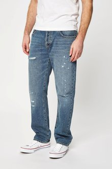 Next Light Blue Ripped And Repaired Jeans
