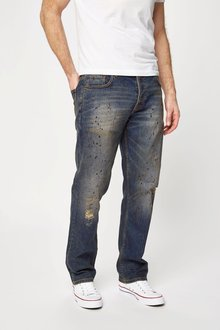 Next Dirty Denim Painted Jeans