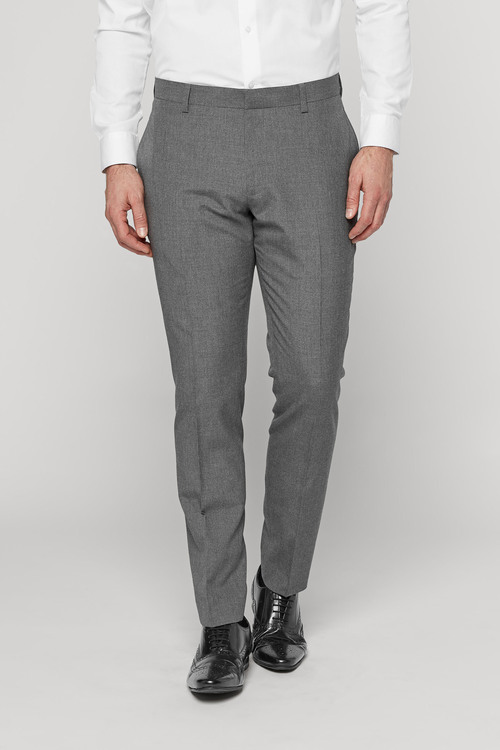 Next Marl Suit: Trousers - Skinny Fit