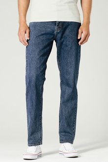 Next Mid Blue Jeans - Loose Fit
