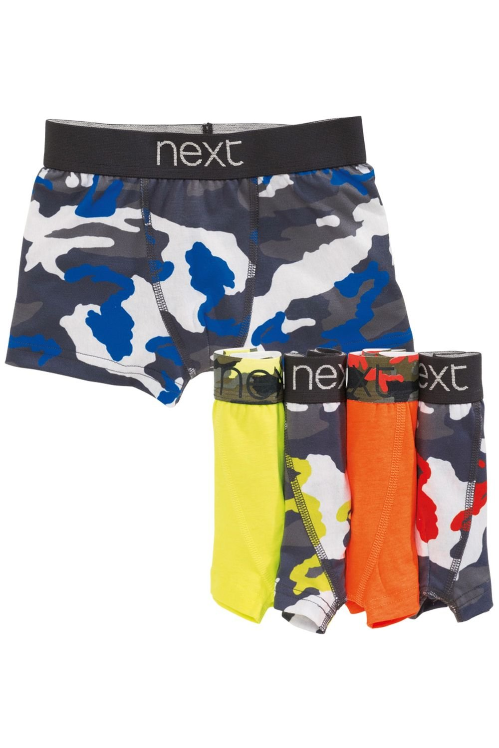 75a98effac Next Fluoro Camo Trunks Five Pack (2-16yrs) Online | Shop EziBuy