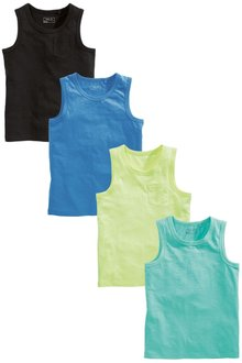 Next Multi Vests Four Pack (3-16yrs)