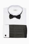 Next Regular Fit Shirt With Bow Tie Cummerbund And Cufflinks