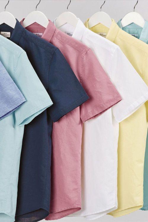 Next Linen Blend Overhead Shirt