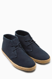Next Suede Jute Mid Boot