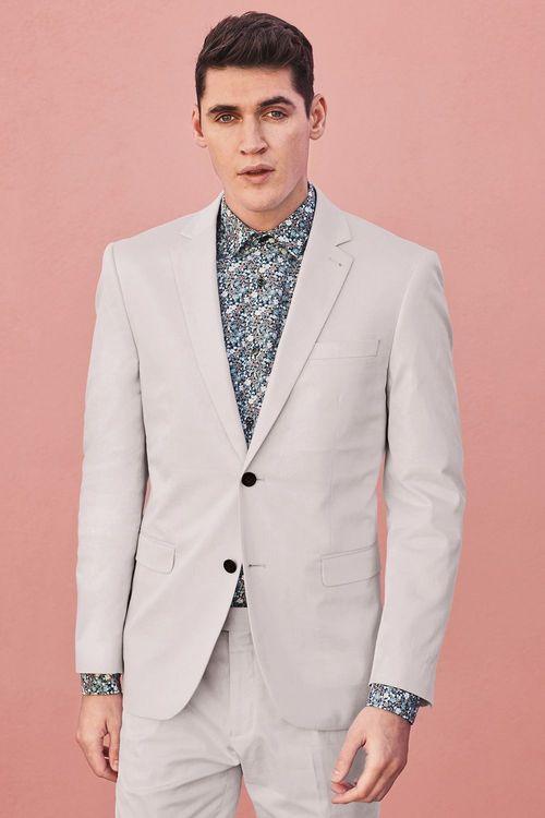 Next Cotton Suit: Jacket - Slim Fit