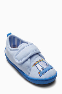Next Blue Car Slippers (Younger Boys)