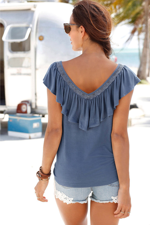 Urban Ruffle Detail Top