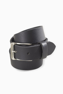 Next Black Leather Belt