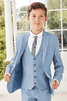 Next Light Blue Chambray Suit Jacket (12mths-16yrs)