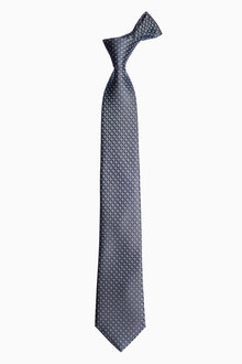 Next Navy Signature Cross Pattern Tie