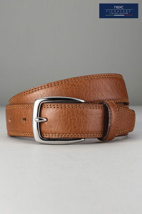Next Tan Signature Italian Leather Belt
