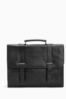 Next Black Signature Leather Briefcase