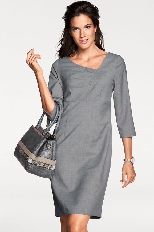 Heine Asymmetric Neckline Shift Dress