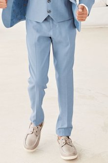 Next Light Blue Chambray Suit Trousers (12mths-16yrs)