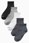 Next Mid Cut Sports Socks Five Pack
