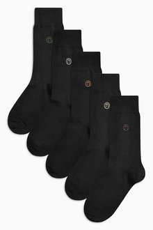 Next Neutral Colour N Logo Socks Five Pack