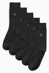 Next Neutral Colour N Logo Socks Five Pack