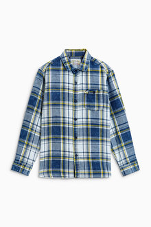 Next Blue Long Sleeve Check Shirt (3-16yrs)