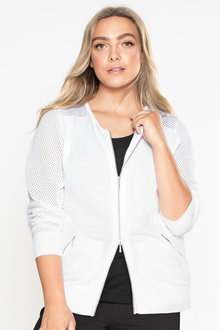 Plus Size - Sara Zip Cardigan