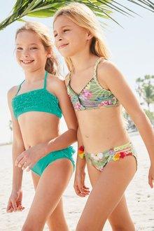 Next Khaki Floral Bikini (3-16yrs)