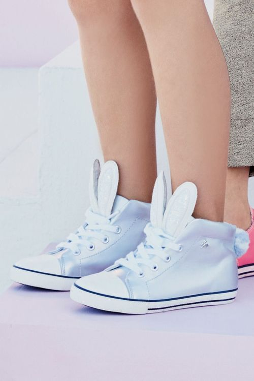 Next Silver Bunny High Tops (Older Girls)
