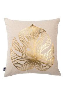 Gold Banana Leaf Cushion