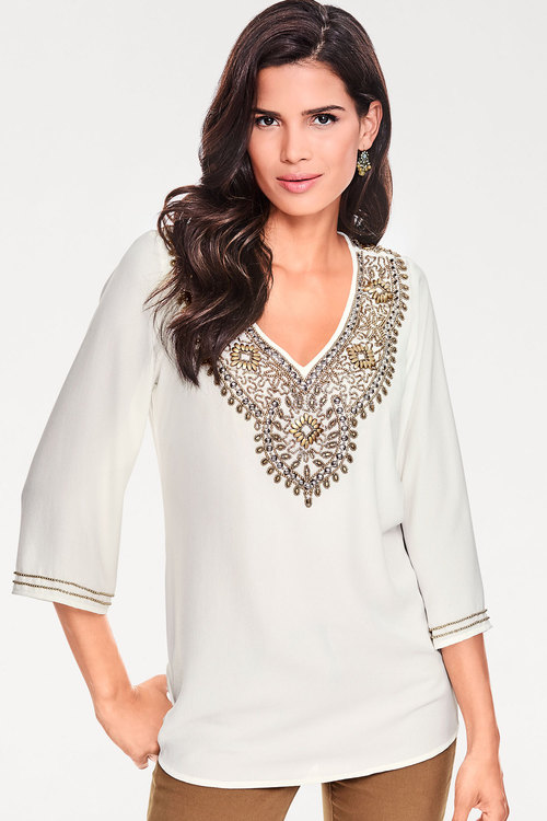 Heine Bead Embellished Top