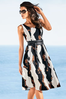 Heine Fit and Flare Printed Dress