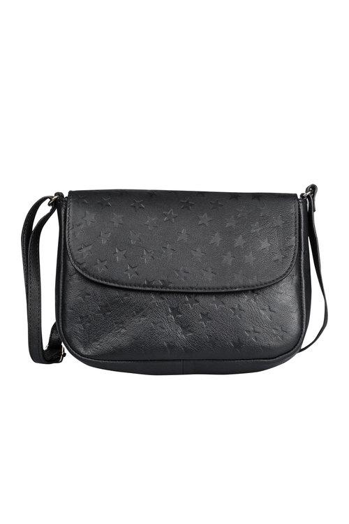 Leather Star Embossed Cross Body Bag