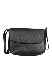 Leather Star Embossed Cross Body Bag