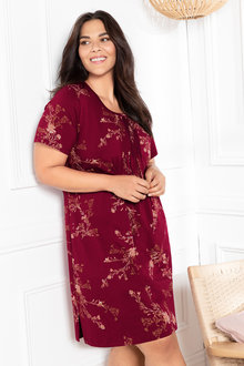 Plus Size - Sara Short Sleeve Pintucked Nightie