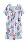 Plus Size - Sara Short Sleeve Pintucked Nightie