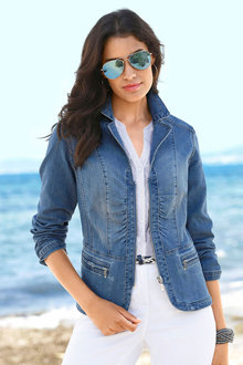 Capture European Denim Blazer