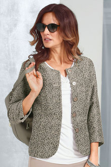 Capture European Jacquard Blazer
