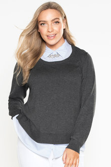 Plus Size - Sara 2 For Sweater Top