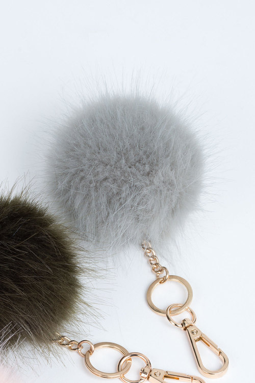 Faux Fur Keyring