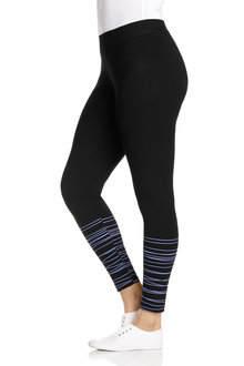 Plus Size - Sara Crop Stripe Detail Legging