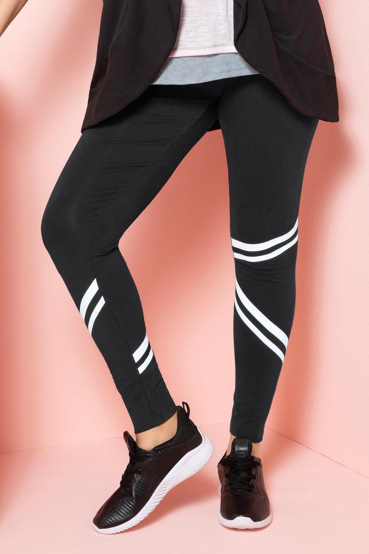 9c8ff603a3cde3 Sara Crop Stripe Detail Legging Online | Shop EziBuy
