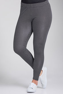 Plus Size - Sara Printed Legging
