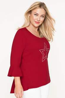 Plus Size - Sara Bell Sleeve Top