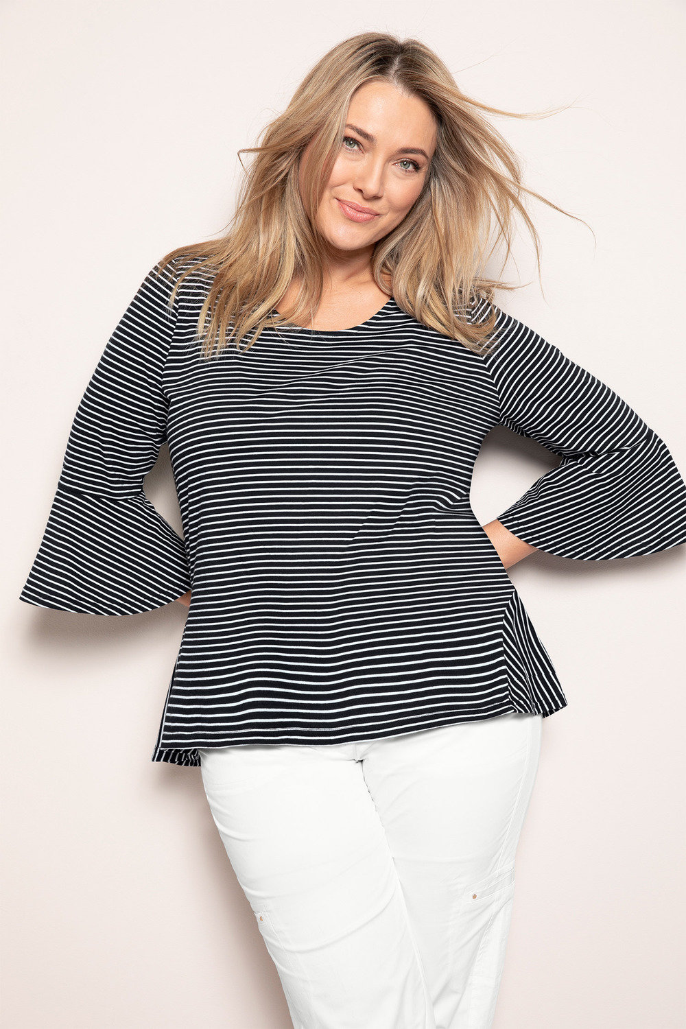 3b1b6a01a4dc6 Plus Size - Sara Bell Sleeve Top