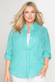 Plus Size - Sara Crush Voile Shirt