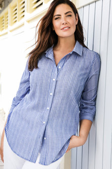 Plus Size - Sara Crush Voile Shirt - 178546
