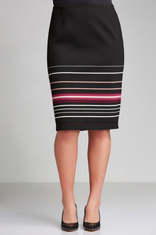 Plus Size - Sara Midi Stripe Skirt