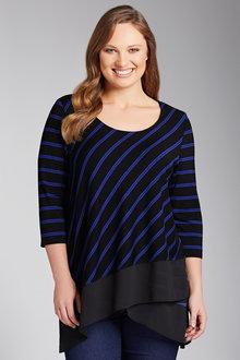 Plus Size - Sara Cross Over Tunic