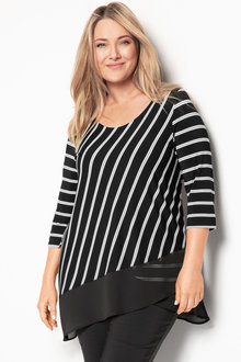 Plus Size - Sara Cross Over Tunic