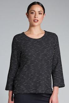 Emerge Stripe Lace Up Sweat - 178572